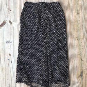 Express knit metallic stretchy skirt